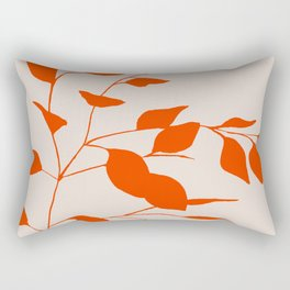 Red Leaves Rectangular Pillow