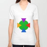 ninja turtle V-neck T-shirts featuring Teenage Mutant Ninja Turtle Minimalist by The Fenix