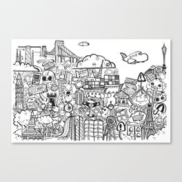 Travel with Pen,so? Canvas Print