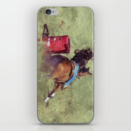 The Barrel Racer - Rodeo Horse and Rider iPhone Skin