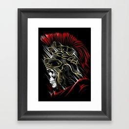 Roman Skull Framed Art Print