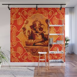 GANESHA - orange Wall Mural