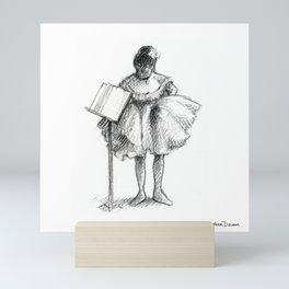 After Degas: The Dance Class Mini Art Print