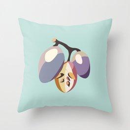 grape fruit illustration Throw Pillow