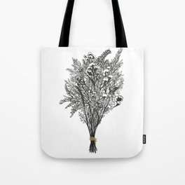 Dry Bouquet with Gold String Tote Bag