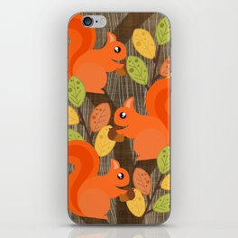 Three Squirrels In A Tree iPhone Skin