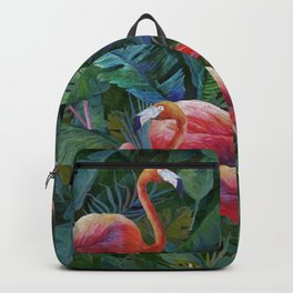 tropical pattern with flamingos Backpack