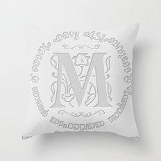 Joshua 24:15 - (Letterpress) Monogram M Throw Pillow