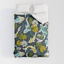 Koi Pond - Green Comforters