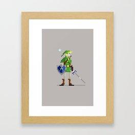 Pixel Link Framed Art Print