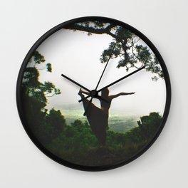 Forest Yoga Wall Clock