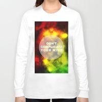 reggae Long Sleeve T-shirts featuring Reggae Galaxy by Pancho the Macho