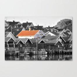 House in small village Canvas Print