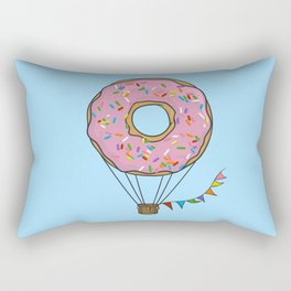 Donut Hot Air Balloon Rectangular Pillow