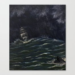 On a Stormy Night Canvas Print