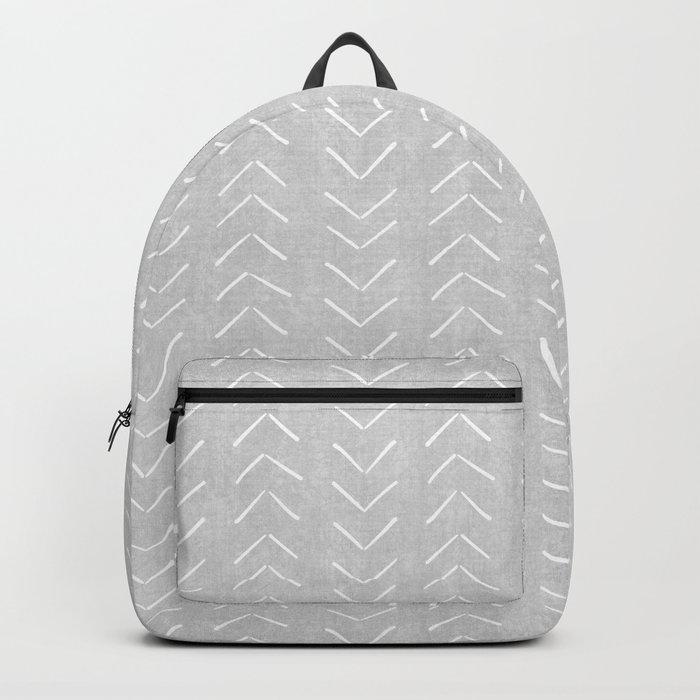 Mudcloth Big Arrows in Grey Backpack