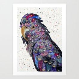 Galaxy Cockatoo Art Print