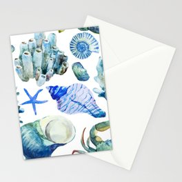 Sea Life Pattern 05 Stationery Cards