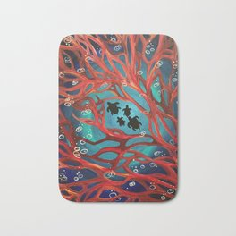 Fire Coral Bath Mat