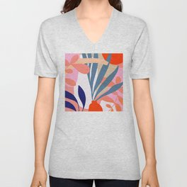 Jungle Love - Pink & Blue Unisex V-Neck
