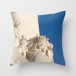 Monument of the Discoveries detail Throw Pillow