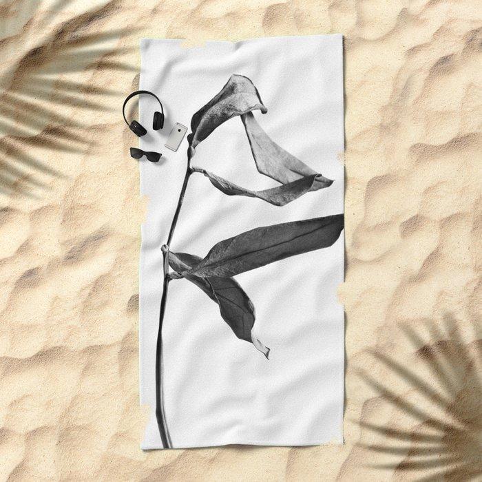 WABI SABI Dead Leaves. Beach Towel