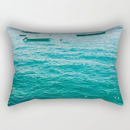 Boats at the sea Rectangular Pillow