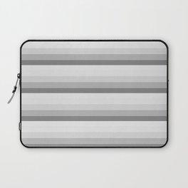 Gray Ombre Stripes Laptop Sleeve