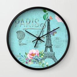 Paris - my blue love Wall Clock