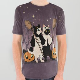 halloween cats All Over Graphic Tee