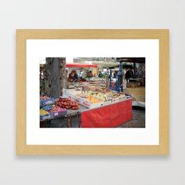 Market 7 Framed Art Print