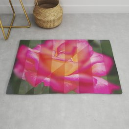 Rose Flower From A New Angle Rug