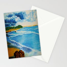 Cloudy Beach Stationery Cards