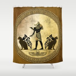 Anubis the egyptian god Shower Curtain