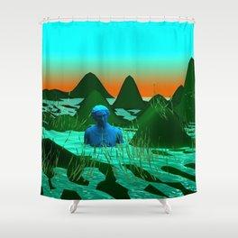 wolf point Shower Curtain