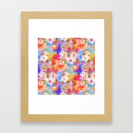 Tropical Hawaiian Garden Framed Art Print