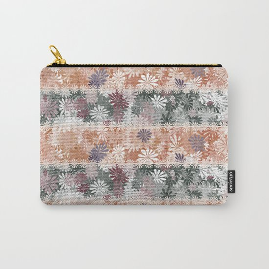 Floral Stripes Carry-All Pouch