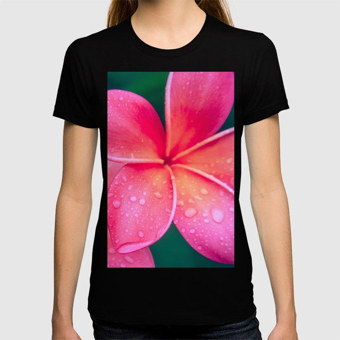 Aloha Hawaii Kalama O Nei Pink Tropical Plumeria T-shirt