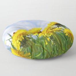 Dandelion meadow Floor Pillow
