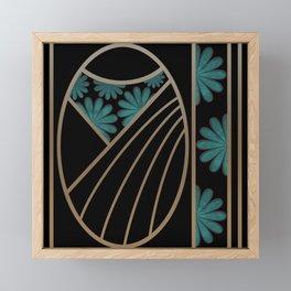 ART DECO FLOWERS (abstract) Framed Mini Art Print
