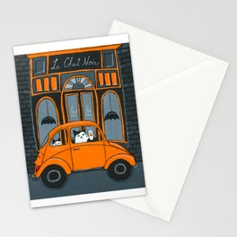 Le Chat Noir Cafe Stationery Cards