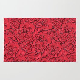 Vintage roses pattern Rug