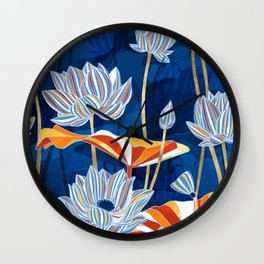Bold Botanical Wall Clock
