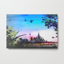 Town and country. Metal Print