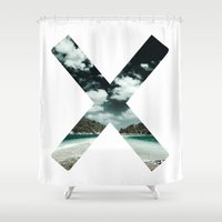 the xx Shower Curtains featuring XX  by Adrian Lungu