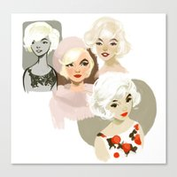 marilyn Canvas Prints featuring marilyn by loish