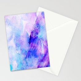 Hand painted blush pink teal blue watercolor brushstrokes Stationery Cards
