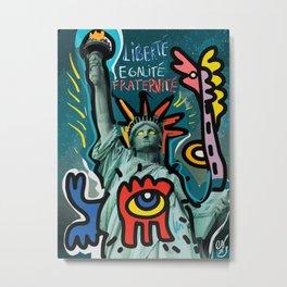 Liberté égalité fraternité Street Art French Graffiti Metal Print