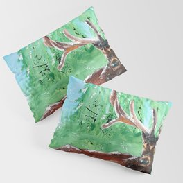 "Deer - Animal - ""Time to relax"" - by LiliFlore Pillow Sham"