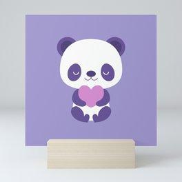 Cute purple baby pandas Mini Art Print